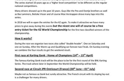 BNL karting series / KZ klasse